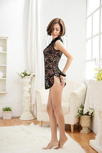 Black dress oriental set 2 pieces dress mini in mini tranparent lingerie design sexy traditional wxtECtgOqB