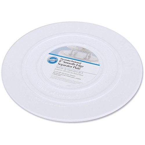 - Wilton 302-4102 Smooth Edge Separator Plate for Cakes, 8-Inch