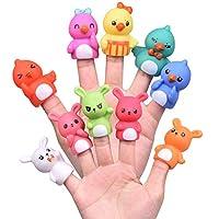 10 PCs Easter Bunny Chicks Finger Puppets, Easter Basket Stufflers for Toddlers, Kids Party Favors for Easter Egg Fillers