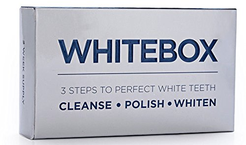 WHITEBOX Professional Advanced Teeth Whitening Strips Made by UK based dentists - the only teeth whitening kit you should be using, contains teeth cleaning tools product image