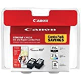 Canon PIXMA MX410 Black & Color Ink Cartridge Combo Pack (OEM)