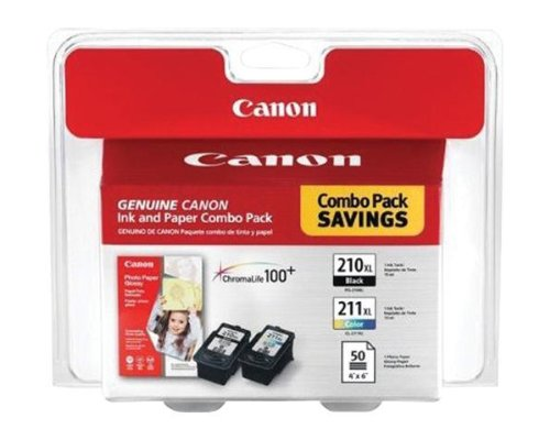 Canon PIXMA MX410 Black & Color Ink Cartridge Combo Pack (OEM) - Color Mx Canon Ink