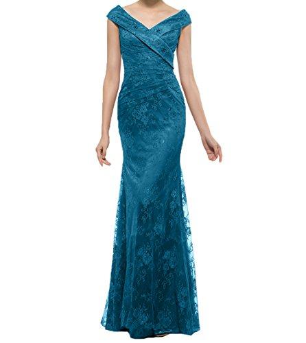 Dunkel Festlichkleider Charmant Promkleider Brautmutterkleider Abendkleider Damen Blau Spitze Langes Meerjungfrau Braun fn7C4ZxqwT