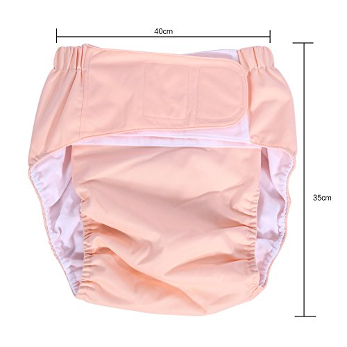 Teen / Adults Cloth Diapers, Adjustable Washable Dual Opening Pocket Reusable Leakfree Insert for Incontinence Care by Yosoo (Image #7)