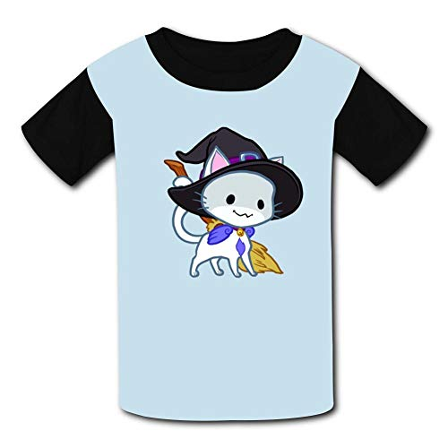 LehjEve1 Halloween Chibi Kitty Youth Casual Shirts 3D Printed T Shirt Short Sleeve Tops Tees for Boy's -
