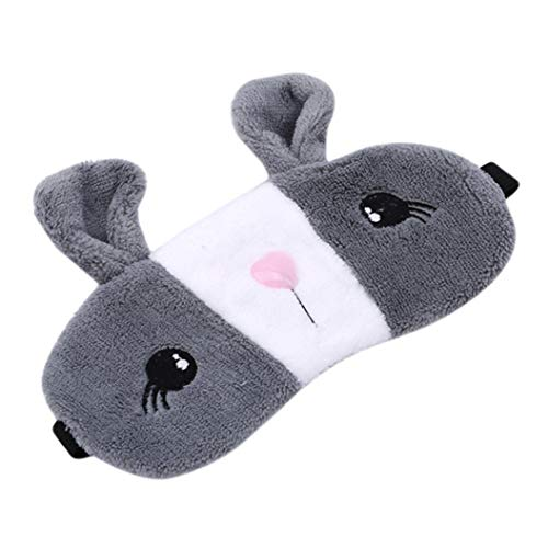 LZIYAN Sleep Eye Mask Lovely Cartoon Rabbit Eye Mask Portable Eyepatch Cute Blocks Out Light Blindfold For Home Travel,Gray by LZIYAN (Image #2)