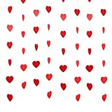 window display props - Pangda Valentine's Day Party Decoration Small Red Heart Garland for Mall Window Display, Photo Props Backdrop, 6 Strands