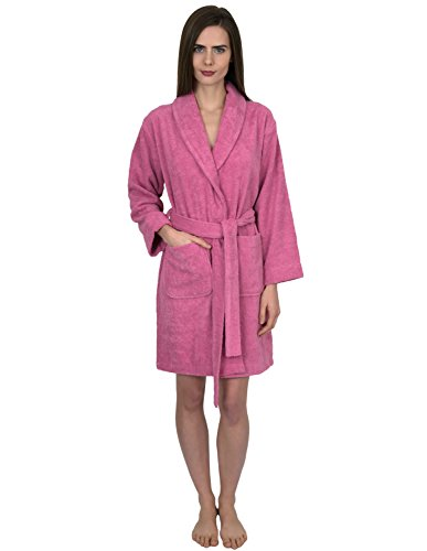 (TowelSelections Women's Robe, Turkish Cotton Short Terry Bathrobe X-Large Cashmere Rose)