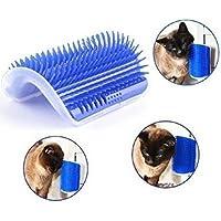AMIIBO Blaue Haustier Wand Ecke Haarschneidemaschine Katze Massager Ecke Bürste Feste Massagebürste 8,5 * 13 cm