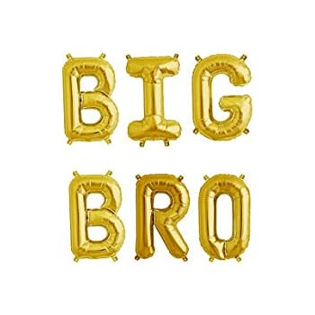 16 big bro gold letter balloonsbig brother announcementbaby announcement cannot
