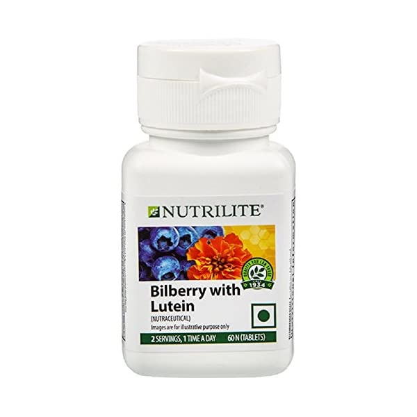 Amway Nutrilite Bilberry with Lutein 2021 July Scientific formula with unique blend of nutrients. lutein, bilberry extracts, black currant extract, vitamin a An excellent product formulated to support your normal eye health and visual acuity This supplement in combination with a well balanced nutritious diet