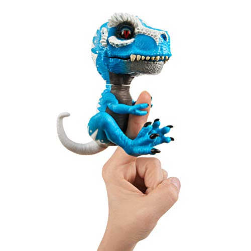 WowWee Untamed T-Rex by Fingerlings Ironjaw (Blue) -Interactive Collectible ()