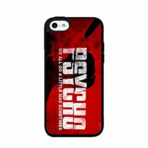 Psycho - Plastic Phone Case Back Cover (iPhone 5 5s) includes diy case Cloth and Warranty Label