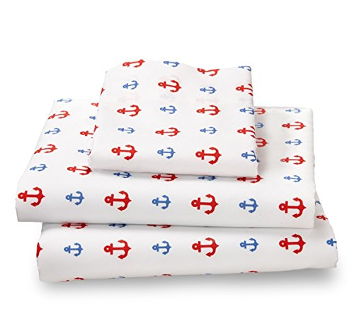 Where The Polka Dots Roam Twin Sheet Set Nautical Anchor - Double Brushed Ultra Microfiber Luxury Bedding Set - VERSATILE AND FLEXIBLE MICROFIBER fits on all mattress types, our Cal King, King, Queen, Full set comes with 1 fitted sheet, 1 flat sheet & 2 pillowcase. Twin and XL Twin set comes with 1 pillowcase SUPER SOFT AND LUXURIOUS microfiber is as soft as 1500-thread count cotton.Breathes 50% better than cotton INCREDIBLY DURABLE temperature control microfiber is the highest quality on market for a remarkable price far lower than the industry standard - sheet-sets, bedroom-sheets-comforters, bedroom - 41KhXj70B%2BL -