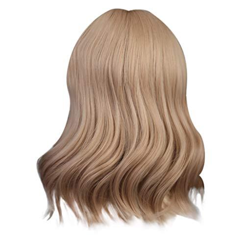 Get Real Doughnut Costumes - Iusun Wigs,12'' Gold Hairshort Women's Short