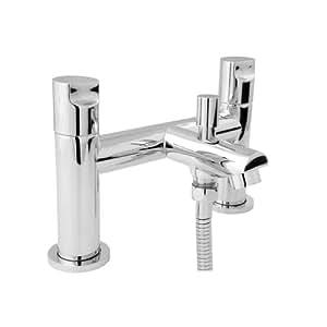 "Deva IKO106 - ""Ikon"" Grifo de bañera-ducha cromada. Mezclador bañera montada (215 mm A x 150 T x 125 F)"