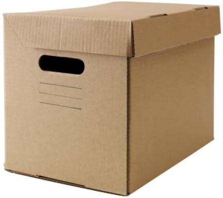 Ikea pappis – Caja con tapa marrón – 25 x 34 x 26 cm: Amazon.es: Hogar
