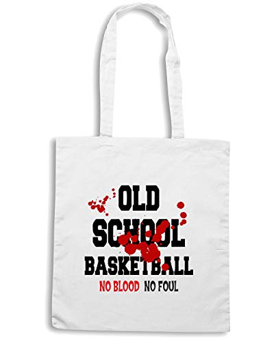 Speed Shirt Borsa Shopper Bianca OLDENG00205 OLD SCHOOL BASKETBALL