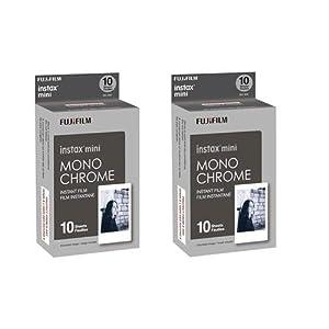 Fujifilm 2X instax mini Monochrome Instant Film, 10 Pack