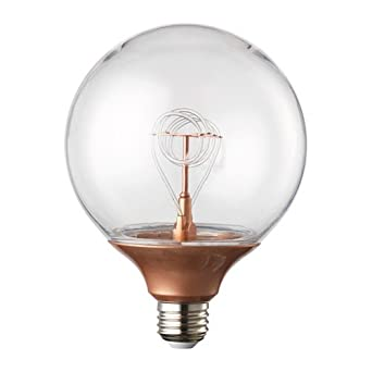 Ikea Nittio Led Birne E27 Globe Copper Colour Amazon De Beleuchtung