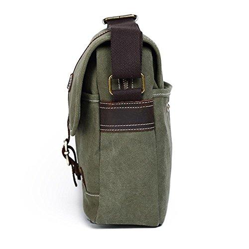 lona bolsa de aire del ocio solo hombres mochila Green retro simple Penao Ocio al messenger bandolera libre 31cmx9cmx25cm los aBIwZnqfF