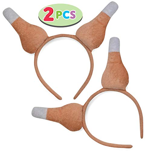 JOYIN Set of 2 Thanksgiving Turkey Drumsticks Headbands Holiday Party Accessories (One Size Fit All)
