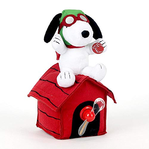 Dees Nursery Halloween (Dan Dee Peanuts Snoopy as WWI Flying Ace Musical Animated Plush Figure on Doghouse with Lighted Greeting Display LED)