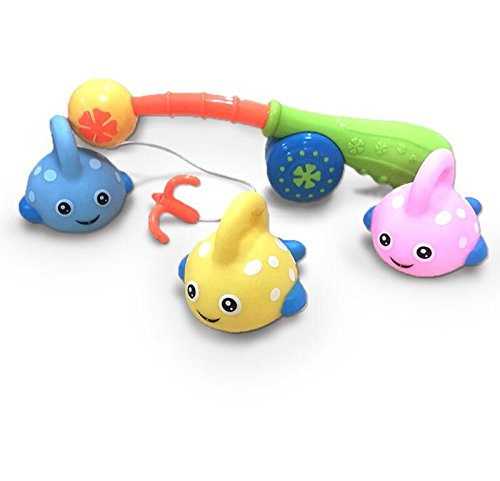 Olele Fishing Bath Toy, Kids Fishing Game Toys with Cute Spotted Fish and Fishing Rod,The Ideal Gift for Toddler Baby Boys Girls Bathtub Fun Time FlyFar