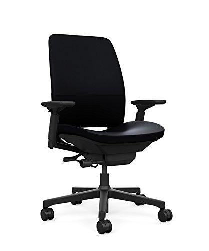 Amazon.com: Steelcase Amia Ergonomic Office Chair with Adjustable Back Tension and Arms | Flexible Lumbar with Sliding Seat | Black Leather: Kitchen & ...