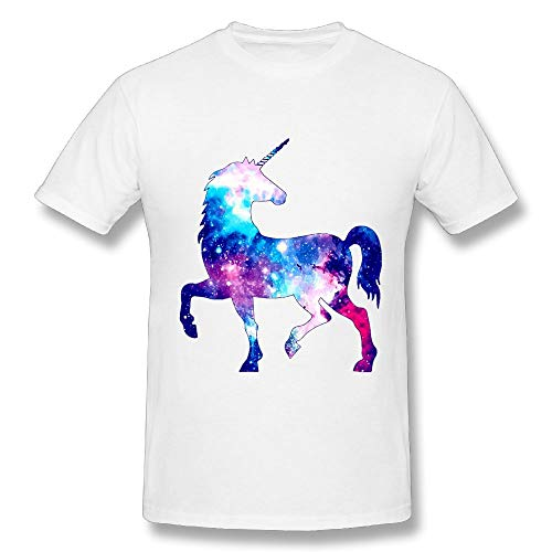 CENJOAN Starry Unicom Short Sleeve T-Shirt Cotton Tee Mens -