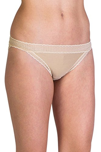 ExOfficio Women's Give-N-Go Lacy Low Bikini Brief, Nude, X-Large