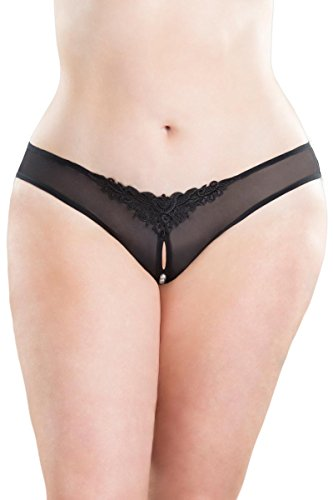 Oh La La Cheri Women's Crotchless Thong With