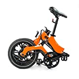 MiRiDER One - Electric Bike - Folding Portable eBike For Commuting & Leisure | Rear Suspension, Pedal Assist Unisex Bicycle, 250W / 36V (Orange, Under 5ft 9 Inch Rider)