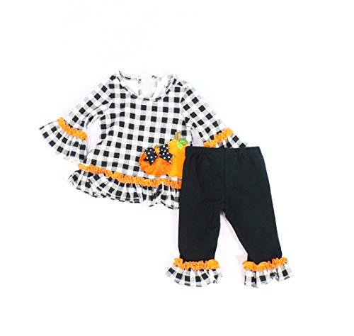 Rare Editions Baby Girls Halloween Plaid Outfit $34