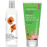 Aroma Magic Aromatic Skin Toner, 100ml and Aroma Magic Neem And Tea Tree Face Wash, 100ml