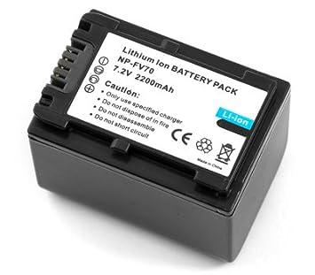 Amazon.com: Batería para Sony NP-FV70 Handycam HDR-CX150 DCR ...