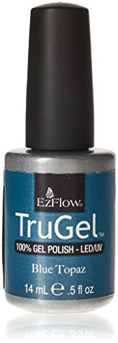EZ Flow 2nd Launch Gel Polish, Blue Topaz, 0.5 Fluid Ounce