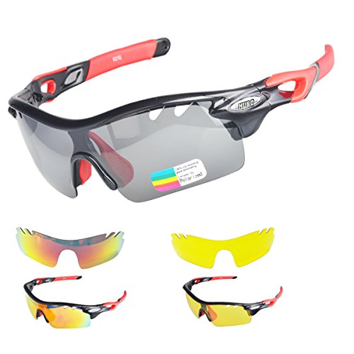 Cycling Sunglasses, Hubo Polarized Sports Sunglasses for Cycling, Driving , Climbing, - Polarised Are Sunglasses Better