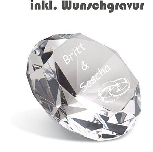 Vetro Cristallo Diamante incl. Incisione Decorazione Fermacarte inciso Regalo nuovo Reflects