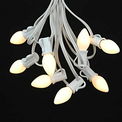 Novelty Lights C7 White Ceramic Christmas Lights Set - Indoor/Outdoor  Christmas Light String - Christmas Tree Lights – Opaque Christmas Bulbs –  Outdoor ... - Amazon.com: Novelty Lights C7 White Ceramic Christmas Lights Set