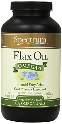 Spectrum Essentials Flax Oil, 1000 mg, 250 Softgels