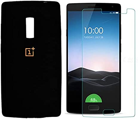 best service 2c158 d4dce Silicone Case Cover TPU For OnePlus 2 With Tempered Glass Screen ...