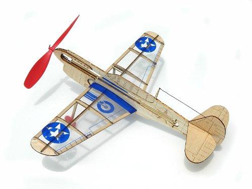 Warhawk and V-Tail Hellcat U.S German Fighter Rockstar Jet Guillow miniModels Balsa Wood Model Airplane Set: 6 Laser Cut Wood Kits Included U.S Stunt Flyer