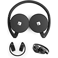 FRANKLIN Wireless Foldable Over Ear Headphones With Microphone & Storage Bag - Compact Bluetooth Earphones by TRNDlabs