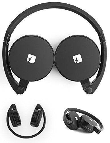 FRANKLIN Wireless Foldable Over Ear Headphones With Microphone & Storage Bag – Compact Bluetooth Earphones by TRNDlabs