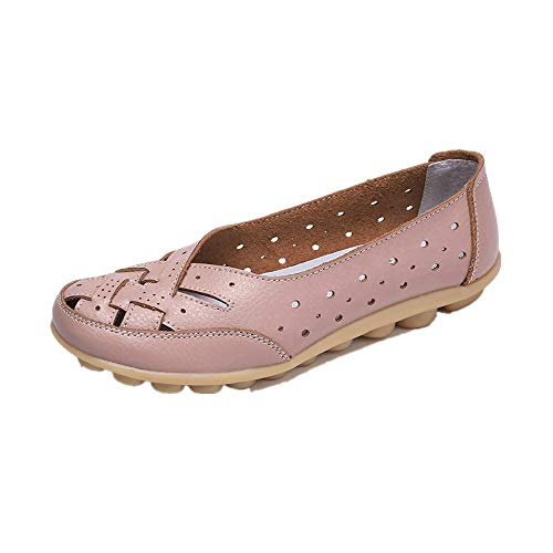 ONLY TOP Women's Breathable Natural Walking Flat Loafer