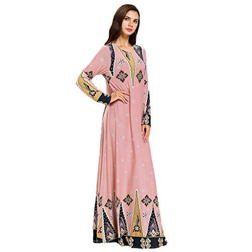 FONMA Muslim Beaded Kaftan Abaya Dubai Women Robe Islamic Dress