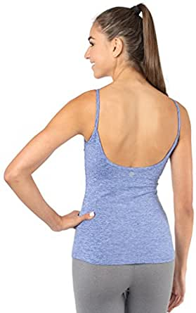 Amazon Com Fabb Activewear Yoga Top With Built In Bra