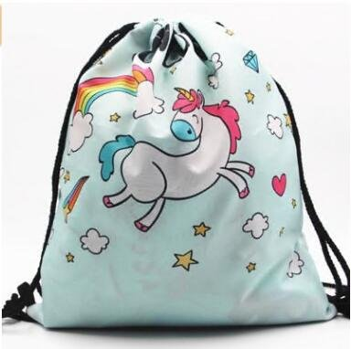 Women G Yuhemii Bags Print Girls Shoulder Backpack Unicorn Drawstring ppR4gq