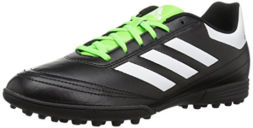 adidas Men's Goletto VI TF Soccer Shoe, Black/White/Solar Green, 7 M US